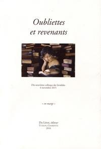 Michel Pierssens - Oubliettes et revenants - Dix-neuvième colloque des Invalides, 6 novembre 2015.