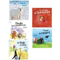 Michel Piquemal - Tu vois, je lis ! - 5 volumes : Un loup à l'école ; La semaine de Quiriquiqui ; L'ours blanc ; Doubi et le monstre noir ; Coquin de renard.