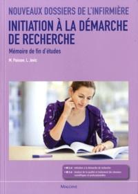 Michel Poisson et Ljiljana Jovic - Initiation à la demarche de recherche - Mémoire de fin d'études.