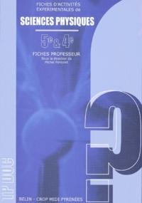 Michel Poncelet et  Collectif - Fiches d'activités expérimentales de sciences physiques 5e et 4e - Fiches professeur.