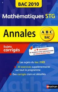 Michel Poncy - Mathématiques Tle STG - Sujets corrigés.