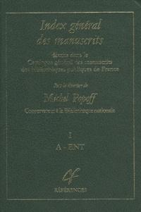 Michel Popoff - Index général des manuscrits décrits dans le Catalogue général des manuscrits des bibliothèques publiques de France - 3 volumes.