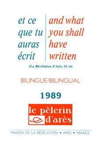 Michel Potay - Et ce que tu auras écris - Edition bilingue français-anglais 1989.