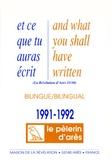 Michel Potay - Et ce que tu auras écris - Edition bilingue français-anglais 1991-1992.