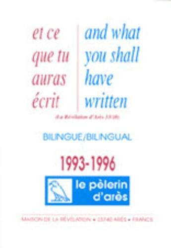 Michel Potay - Et ce que tu auras écris - Edition bilingue français-anglais 1993-1996.