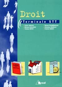 Michel Pouméroulie et  Collectif - Droit, classe de terminale STT.
