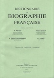 Michel Prevost et Roman d' Amat - Dictionnaire de biographie française - Tome 19 Fascicule 110, Laglenne - Lambert.