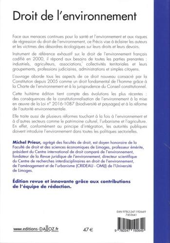 Droit de l'environnement 8e édition