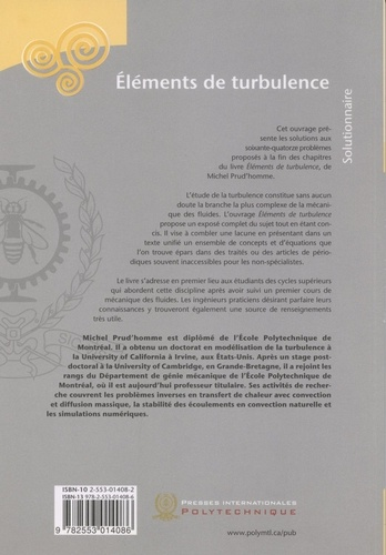 Eléments de turbulence. Solutionnaire