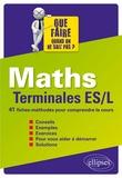 Michel Radanne - Maths Tle ES/L Que faire quand on ne sait pas ? - 41 fiches-méthodes pour comprendre le cours.