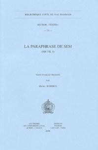 Michel Roberge - La paraphrase de Sem - (NH VII, 1).