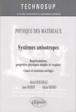 Michel Rousseau et Anne Desert - Physique des matériaux : Systèmes anisotropes - Représentation, propriétés physiques simples et couplées, cours et exercices corrigés.