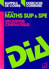 MATHS SUP ET SPE. Géométrie, cinématique, rappels de cours, exercices corrigés, programme 1995.pdf