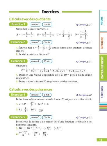 Maths 2de. Pour réussir le jour J