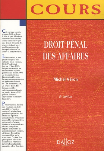 Michel Véron - Droit pénal des affaires.