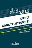 Michel Verpeaux - Droit constitutionnel - Méthologie et sujets corrigés.