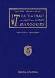 Michel Verschaeve - Le traité de chant et mise en scène baroques..