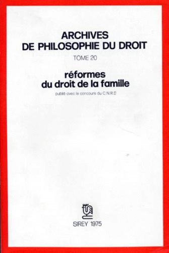 Michel Villey - Réformes du droit de la famille.