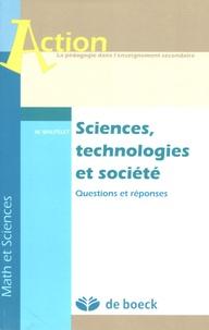 Michel Wautelet - Sciences, technologies et société - Questions et réponses.