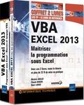 Michèle Amelot et Claude Duigou - VBA Excel 2013 - Maitrisez la programmation sous Excel : cours, exercices et corrigés, Coffret 2 livres.