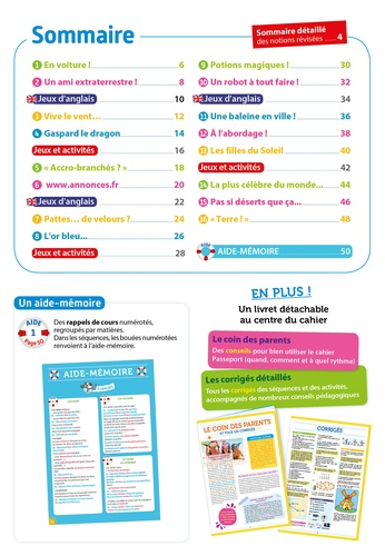 Passeport Toutes les matières du CE2 au CM1. Avec des autocollants récompenses