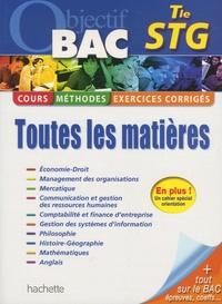 Michèle Batana et Marie-Odile Boulard-Lemoine - Toutes les matières Tle STG.