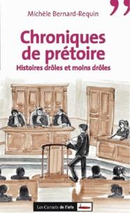 Michèle Bernard-Requin - Chroniques de prétoire - Histoires drôles et moins drôles.