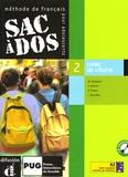 Michèle Butzbach et C Martin - Sac à dos 2 Méthode de français pour adolescents - Livre de l'élève. 2 CD audio