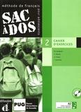 Michèle Butzbach et C Martin - Sac à dos 2 Méthode de français pour adolescents - Cahier d'exercices. 2 CD audio
