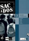 Michèle Butzbach et R Fache - Sac à dos 3 Méthode de français pour adolescents - Cahier d'exercices. 2 CD audio