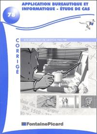 Lemememonde.fr Application bureautique et informatique BTS assistant de gestion PME-PMI. - Etude de cas, Corrigé avec disquette Image