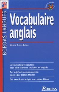 Michèle Dimier-Quique - Vocabulaire anglais.