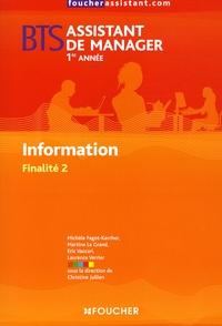 Michèle Fagot-Karcher et Martine Le Grand - Information BTS Assistant de manager 1e année - Finalité 2.