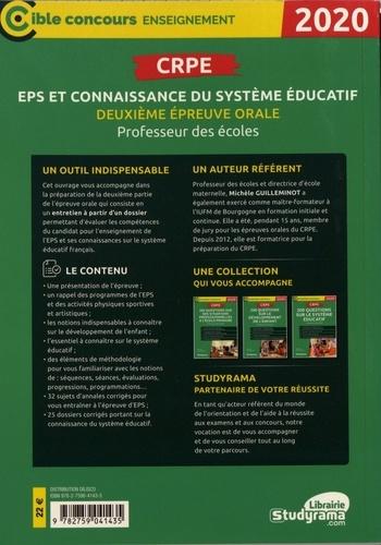 CRPE Deuxième épreuve orale : EPS et connaissance du système éducatif  Edition 2020