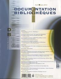 Michèle Hudon - Documentation et bibliothèques - Volume 28, N°2, avril-juin 2012.