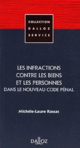 Michèle-Laure Rassat - Les infractions contre les biens et les personnes dans le nouveau code pénal.