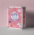 Michèle Lecreux - Coffret La Girls' Box, la boîte à secrets 100% filles - La Girls' Box, le livre d'activités avec un petit carnet de notes, 1 stylo à encre argentée, des magnets, des porte-clés, 1 planche de transferts, des fils pour bracelets brésiliens et un cadenas.