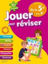 Michèle Lecreux et Eric Berger - Jouer pour réviser de la 5e à la 4e, 12-13 ans - Avec un crayon-gomme.