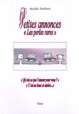 """Michèle Mailliard - Petites annonces - """"Les perles rares""""."""
