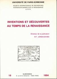 Michèle Noailly - Inventions et découvertes au temps de la Renaissance - [actes des colloques, 19-20 novembre 1993 et 11-12 mars 1994.