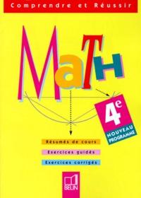 MATHEMATIQUES 4EME. Exercices corrigés, Programme 1998.pdf