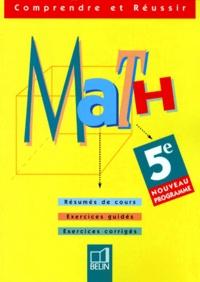 MATHS 5EME. Exercices corrigés, Programme 1998 - Michèle Nouvet | Showmesound.org