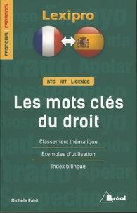 Michèle Rabit - Les mots clés du droit - Classement thématique, exemples d'utilisation, index bilingue.