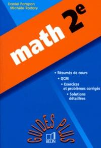 Michèle Rodary et Daniel Pompon - Math, 2e.