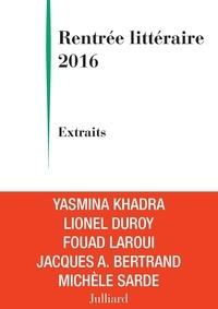 Michèle Sarde et Yasmina Khadra - Extraits Rentrée littéraire Julliard 2016.