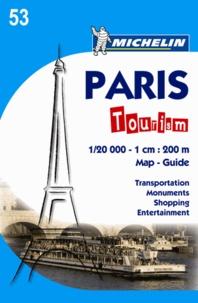 Paris tourism- 1cm:200m, Edition en anglais -  Michelin |