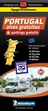 Michelin - Portugal : aires gratuites + parkings gratuits - 1/400 000.