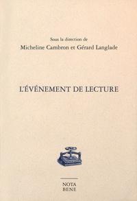 Micheline Cambron et Gérard Langlade - L'événement de lecture.