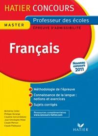 Micheline Cellier et Philippe Dorange - Concours de professeur des écoles, Français - Epreuve écrite d'admissibilité.