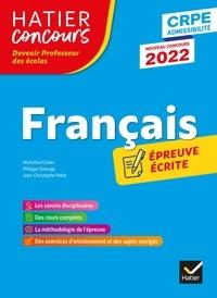 Micheline Cellier et Philippe Dorange - Français - CRPE 2022 - Epreuve écrite d'admissibilité.